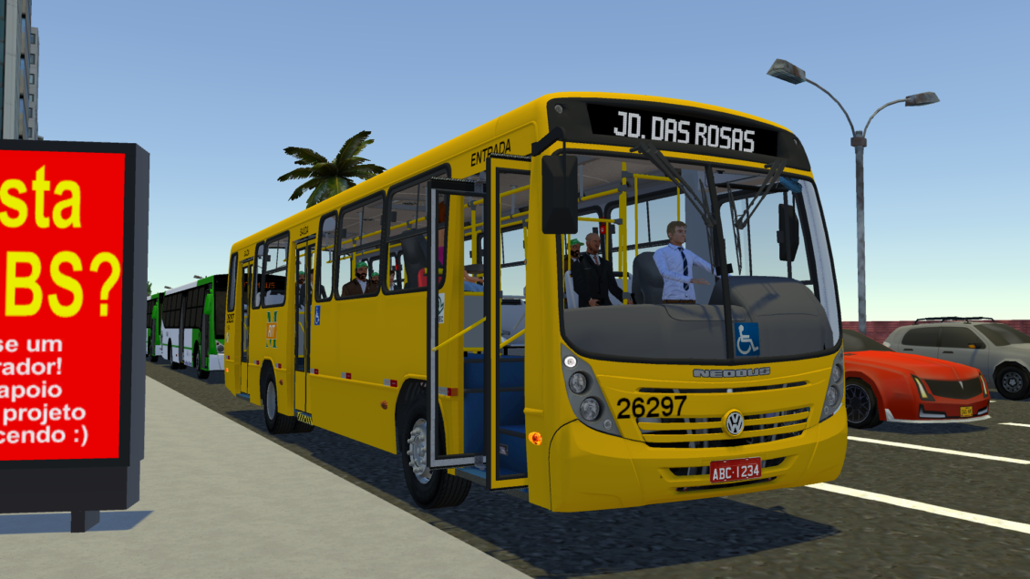 Proton Bus Simulator: Mod Neobus Mega 2006 MB OF 1722M (Download) | By: Jeferson Vieira