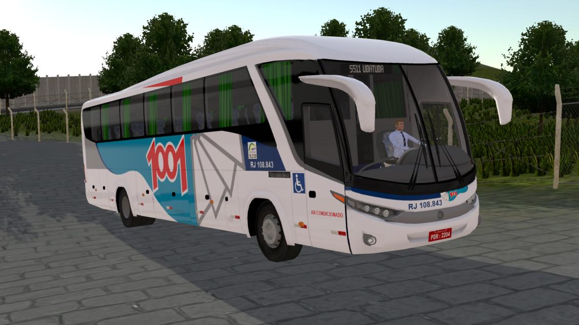 Proton Bus Simulator Road: Skin Marcopolo G7 1200 – Viação 1001 (Download)