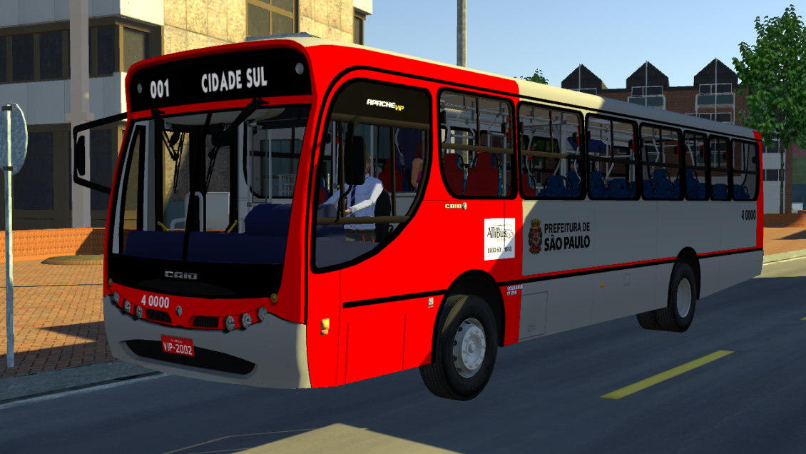 Proton Bus Simulator: Mod Caio Apache Vip I VW 17-210 EOD (Download)