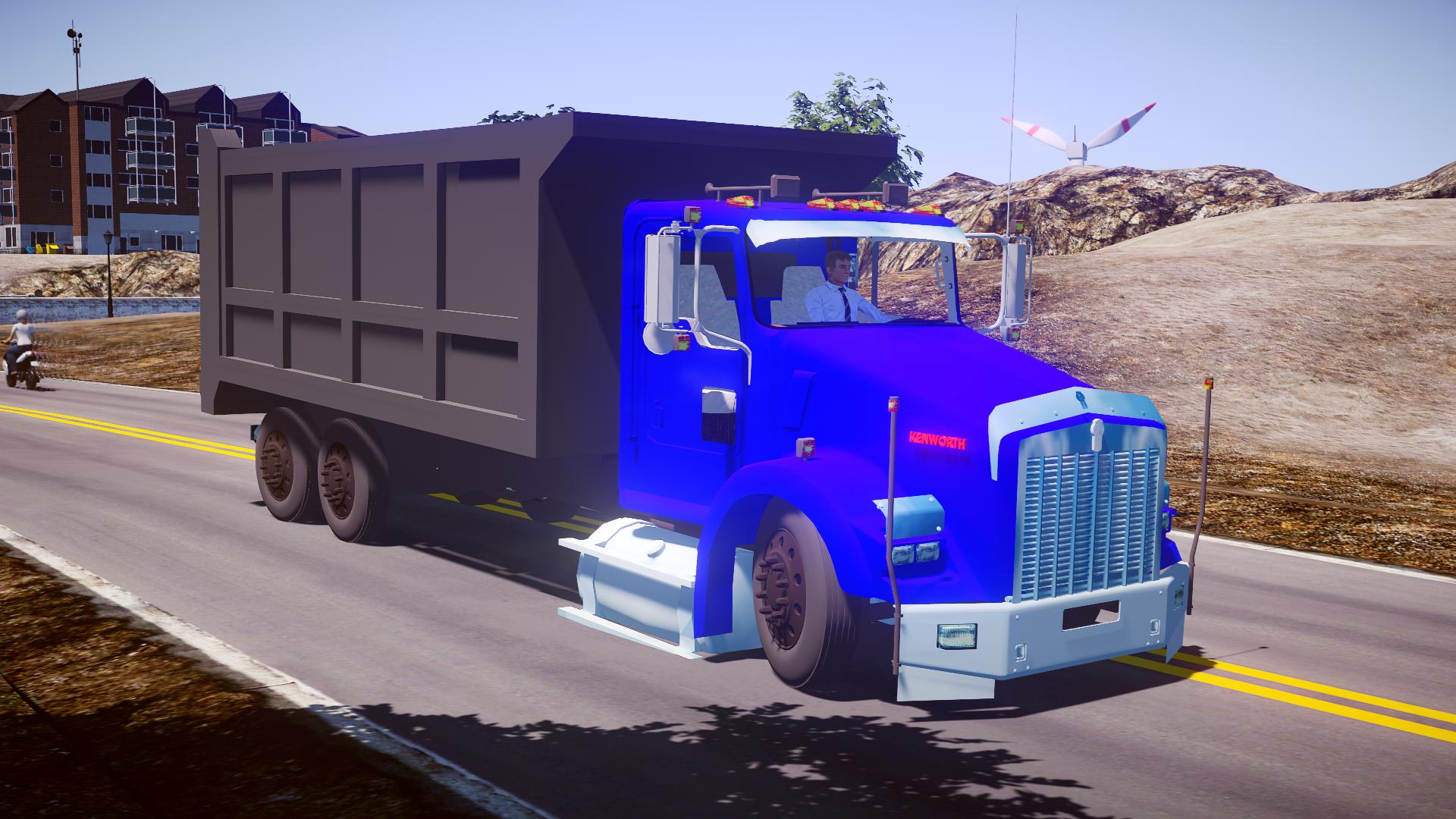 Mod do Caminhão KenWorth T800 (Caçamba) para Proton Bus Simulator/Road