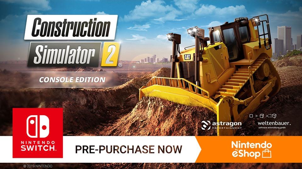 Construction Simulator 2 chega ao Nitendo Switch na próxima semana