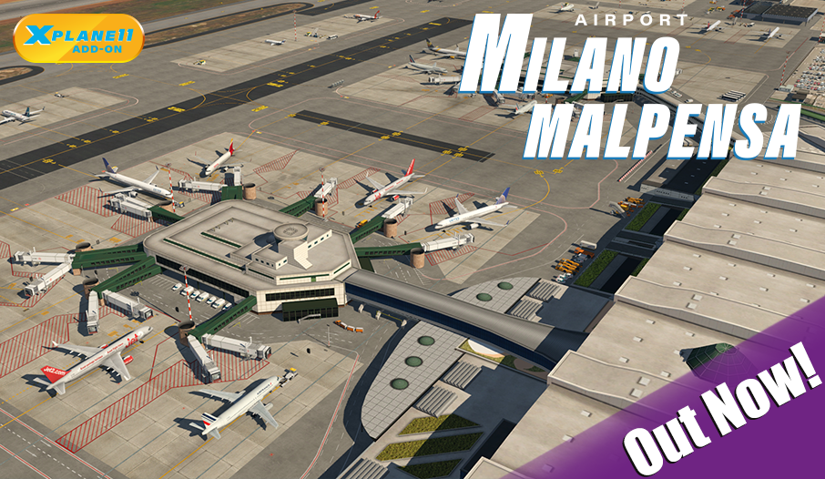 Atualização do XPlane 11 – Novo aeroporto Milano Malpensa