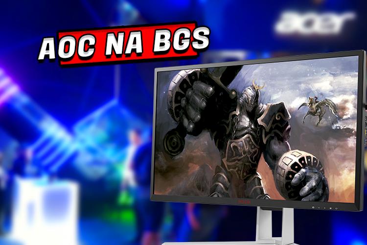 AOC apresenta na BGS o primeiro monitor gamer com 0,5ms do mercado brasileiro