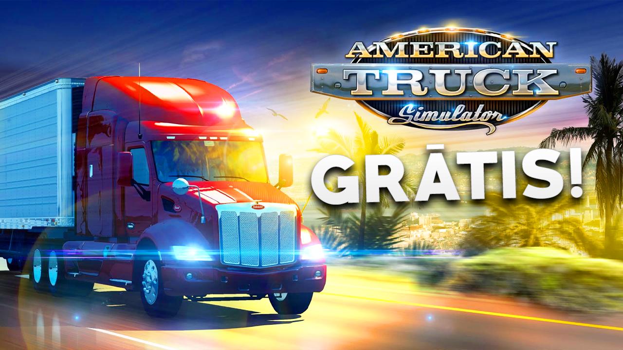 American Truck Simulator fica de graça neste fim de semana, confira como baixa-lo!